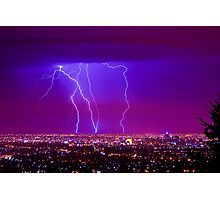 Lightning over Adelaide Photographic Print