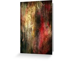 Fall Abstract Acrylic Textured Painting Greeting Card