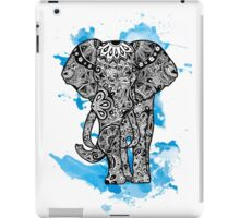 Tribal Elephant- Blue iPad Case/Skin