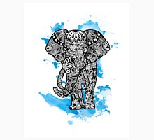 Tribal Elephant- Blue Unisex T-Shirt
