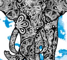 Tribal Elephant- Blue Sticker