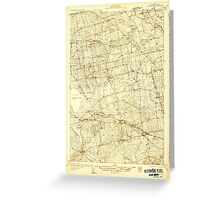 Maine USGS Historical Map Stetson 807688 1931 48000 Greeting Card