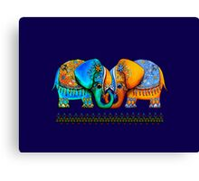 Littlest Elephant Love Links Canvas Print