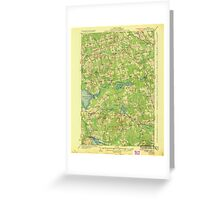 Maine USGS Historical Map Stetson 807689 1935 62500 Greeting Card