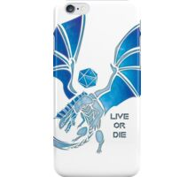 Live or Die - Silver iPhone Case/Skin