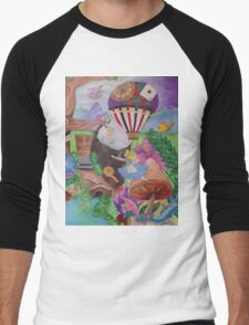 Through the Rabbit Hole Men's Baseball ¾ T-Shirt
