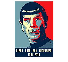 Spock - Lived long and prospered Photographic Print