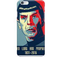 Spock - Lived long and prospered iPhone Case/Skin