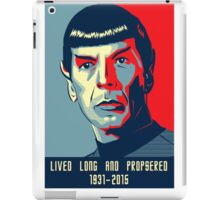 Spock - Lived long and prospered iPad Case/Skin