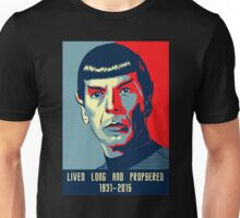 Spock - Lived long and prospered Unisex T-Shirt