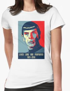 Spock - Lived long and prospered Womens Fitted T-Shirt