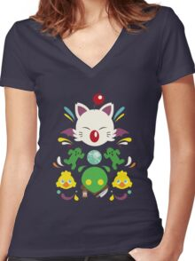 Fantasy Cuteness Women's Fitted V-Neck T-Shirt