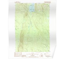 Maine USGS Historical Map Stetson Mountain 103011 1988 24000 Poster