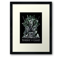 Throne of Games - You Win Or You Die - V2 Framed Print