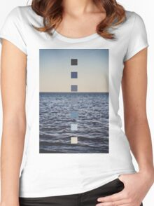 Ocean Sunset Women's Fitted Scoop T-Shirt