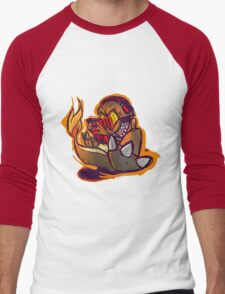 Charmander plays LSDJ Men's Baseball ¾ T-Shirt