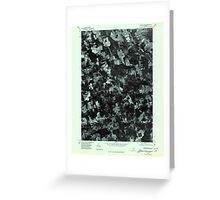 Maine USGS Historical Map Stetson NE 807208 1975 24000 Greeting Card