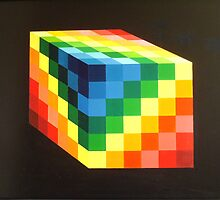 Rainbow Cube by David Bush