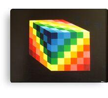 Rainbow Cube Canvas Print