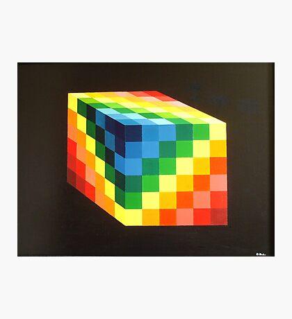 Rainbow Cube Photographic Print