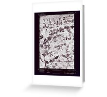 Maine USGS Historical Map Stetson NW 807209 1975 24000 Inversion Greeting Card