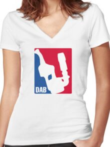 DAB Athletic Association  Women's Fitted V-Neck T-Shirt