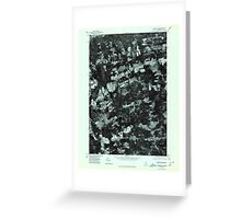 Maine USGS Historical Map Stetson NW 807209 1975 24000 Greeting Card
