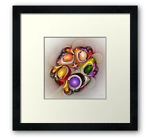 'Light Flame Abstract 274' Framed Print