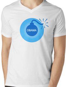 obama : o-bomb Mens V-Neck T-Shirt