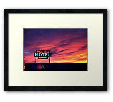 Motel- No Vacancy Framed Print