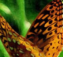 Silky Backyard Butterfly Sticker