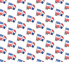 Dominican Flag by Rossy Garcia