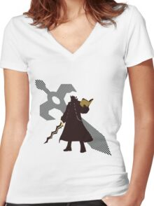 Robin (Male, Fire Emblem Version) - Sunset Shores Women's Fitted V-Neck T-Shirt