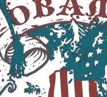 obama : freedom scrollz Sticker