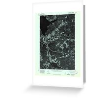Maine USGS Historical Map Stetson SW 807211 1975 24000 Greeting Card