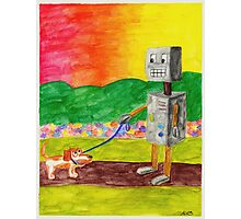 Robot Dog Walker Photographic Print