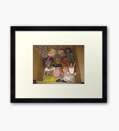 conglomeration of many pieces Framed Print