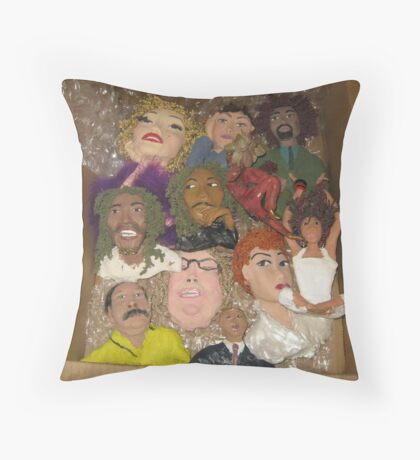 conglomeration of many pieces Throw Pillow