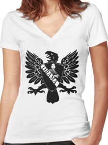 obama : heraldry Women's Fitted V-Neck T-Shirt