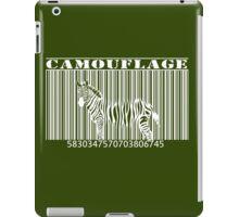 barcode camouflage zebra iPad Case/Skin