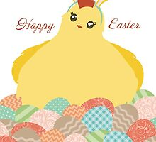Cute chicken Easter bunny ears decorated eggs by BigMRanch