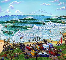 Beach Day, Byron Bay by Norval Watson
