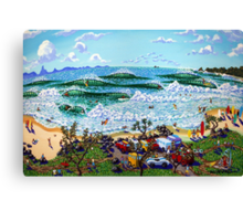 Beach Day, Byron Bay Canvas Print
