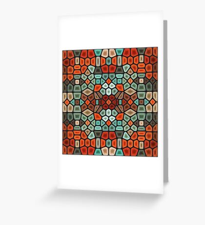 Sunset on the beach - Voronoi Greeting Card