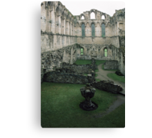 Ruins of maybe Chapter house abbey Rievaulx North Yorkshire England 198406020059 Canvas Print