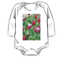 Purple Tulips One Piece - Long Sleeve