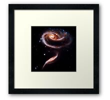 A Rose Made Of Galaxies Framed Print