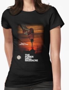 Power Drill Massacre (VHS box art) Womens Fitted T-Shirt