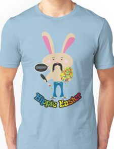 Groovy hippie Easter bunny painting Easter Egg Unisex T-Shirt
