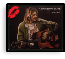 Nirvana / Kurt Cobain - Unplugged. Oil painting Canvas Print